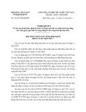 Nghị quyết số: 25/2013/NQ-HĐND