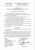Quyết định số: 22/2015/QĐ-UBND tỉnh Cao Bằng