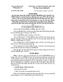 Quyết định số: 40/2015 /QĐ- UBND