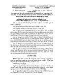 Nghị quyết số: 104/2015/NQ-HĐND