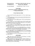 Quyết định số: 36/2015/QĐ-UBND tỉnh Bình Dương
