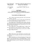 Quyết định số: 19/2015/QĐ-UBND tỉnh Lạng Sơn