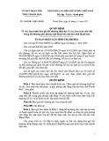Quyết định số: 3644/2011/QĐ-UBND tỉnh Thanh Hóa