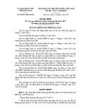 Quyết định số: 06/2015/QĐ-UBND tỉnh Bắc Kạn
