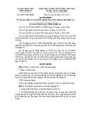 Quyết định số: 52/2015/QĐ-UBND