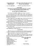 Quyết định số: 19/2015/QĐ-UBND tỉnh Hà Giang