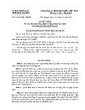 Quyết định số: 33/2012/QĐ-UBND tỉnh Thái Nguyên