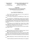 Quyết định số: 28/2015/QĐ-UBND tỉnh Đắk Lắk