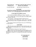 Quyết định số: 462/2015/QĐ-UBND