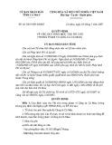 Quyết định số: 26/2007/QĐ-UBND tỉnh Cà Mau