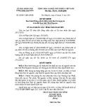 Quyết định số: 68/2011/QĐ-UBND tỉnh Thái Nguyên