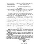 Quyết định số: 66/2011/QĐ-UBND tỉnh Thái Nguyên