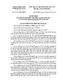Quyết định số: 43/2015/QĐ-UBND tỉnh Quãng Ngãi