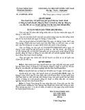 Quyết định số: 63/2009/QĐ-UBND tỉnh Khánh Hòa