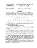 Quyết định số: 24/2015/QĐ-UBND tỉnh Lạng Sơn