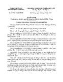Quyết định số: 1377/2013/QĐ-UBND