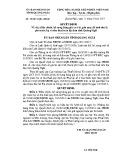 Quyết định số: 39/2015/QĐ-UBND tỉnh Quãng Ngãi