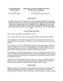 Quyết định số: 47/2015/QĐ-UBND