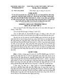 Nghị quyết số: 79/2015/NQ-HĐND