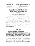 Quyết định số: 50/2014/QĐ-UBND