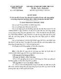 Quyết định số: 31/2015/QĐ-UBND tỉnh Bắc Ninh