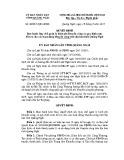 Quyết định số: 40/2015/QĐ-UBND tỉnh Quãng Ngãi