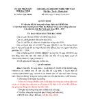 Quyết định số: 28/2015/QĐ-UBND tỉnh Bắc Ninh