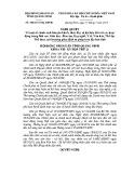 Nghị quyết số: 208/2015/NQ-HĐND