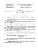 Quyết định số: 29/2015/QĐ-UBND tỉnh Sóc Trăng