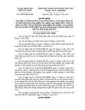 Quyết định số: 72/2014/QĐ-UBND