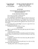 Quyết định số: 29/2015/QĐ-UBND tỉnh Bắc Ninh