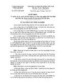 Quyết định số: 26/2015/QĐ-UBND tỉnh Nam Định