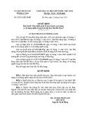 Quyết định số: 22/2015/QĐ-UBND tỉnh Hà Nam