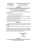 Quyết định số: 31/2015/QĐ-UBND tỉnh Bình Thuận