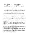 Quyết định số: 46/2015/QĐ-UBND
