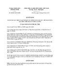 Quyết định số: 46/2015/QĐ-UBND tỉnh Hà Tĩnh
