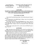 Quyết định số: 39/2015/QĐ-UBND tỉnh Thừa Thiên Huế