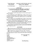 Quyết định số: 23/2015/QĐ-UBND tỉnh Nam Định