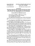 Quyết định số: 42/2015/QĐ-UBND tỉnh Quãng Ngãi