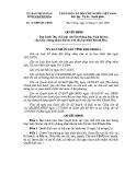 Quyết định số: 73/2009/QĐ-UBND tỉnh Khánh Hòa
