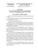 Quyết định số: 27/2015/QĐ-UBND tỉnh Nam Định