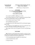 Quyết định số: 07/2013/QĐ-UBND tỉnh Bình Định