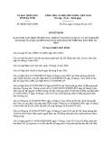 Quyết định số: 40/2015/QĐ-UBND tỉnh Hà Tĩnh