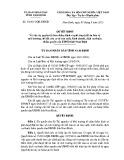 Quyết định số: 30/2015/QĐ-UBND tỉnh Nam Định