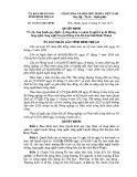 Quyết định số: 32/2015/QĐ-UBND tỉnh Bình Thuận