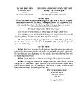 Quyết định số: 05/2015/QĐ-UBND tỉnh Bắc Kạn