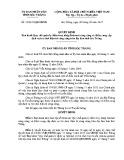 Quyết định số: 33/2015/QĐ-UBND tỉnh Sóc Trăng
