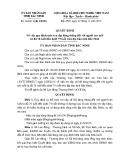 Quyết định số: 30/2015/QĐ-UBND tỉnh Bắc Ninh