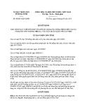 Quyết định số: 44/2015/QĐ-UBND tỉnh Hà Tĩnh