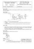 Đề thi môn: Điện tử số - Trường Đại học Bách khoa Hà Nội